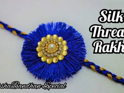 How to Make Rakhi at home | Rakshabandhan | how to make Silk Thread Rakhi | Rakhi Tutorial |DIY