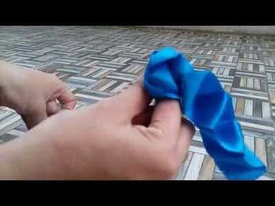 How to make simple satin ribbon flower. .