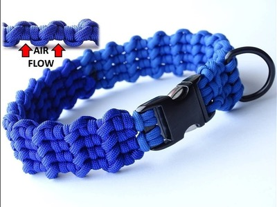 "How to Make ""Waves"" Air Flow Design Paracord Dog Collar-CbyS"