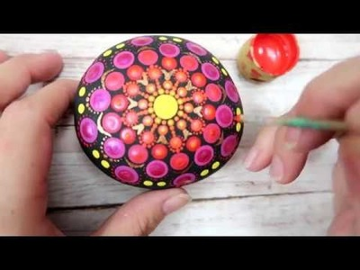 How To Paint Dot Mandalas Beginners Stone Design