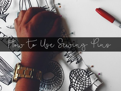 How to Properly Use Sewing Pins
