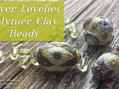 Layered Lovelies-Rustic Shabby Chic Polymer Clay Beads