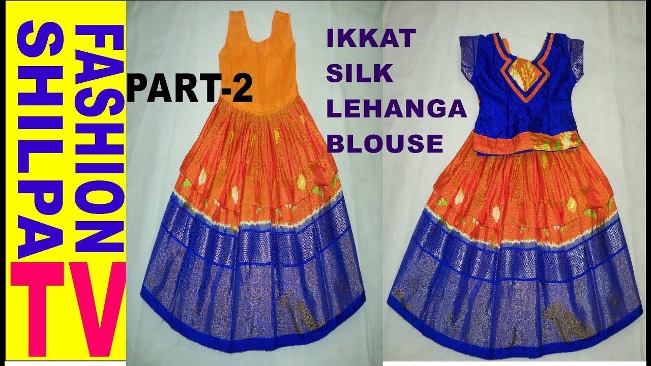 Lehenga blouse cutting and stitching for kids PART-2||Kids Choli & Lehenga Cutting And Stitching