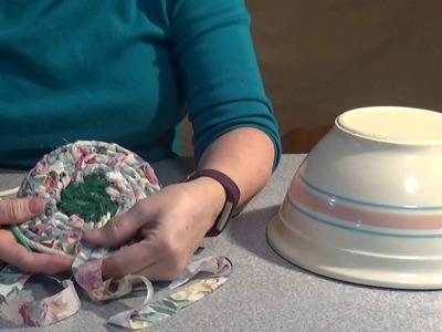 Make a Rag Basket using a Modified Squaw stitch - No glue no sewing maching
