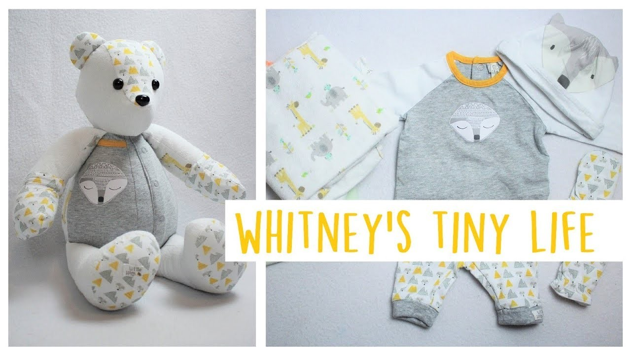 Memory Bear from Newborn Outfit | Week in the Life | Whitney's Tiny Life