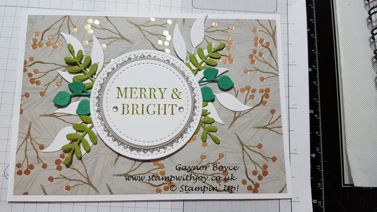 Merry & Bright Christmas Card Stampin' Up!