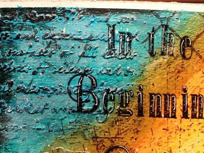 Mixed Media Altered Canvas - In The Beginning