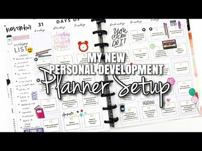 My NEW Personal Development Setup + Showing You My FIRST SPREAD | At Home With Quita