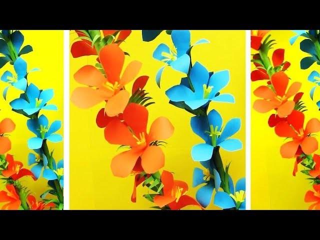 Paper Flower Stick  - DIY - Paper Craft - Handcraft. JULIA`s EASY flowers у34