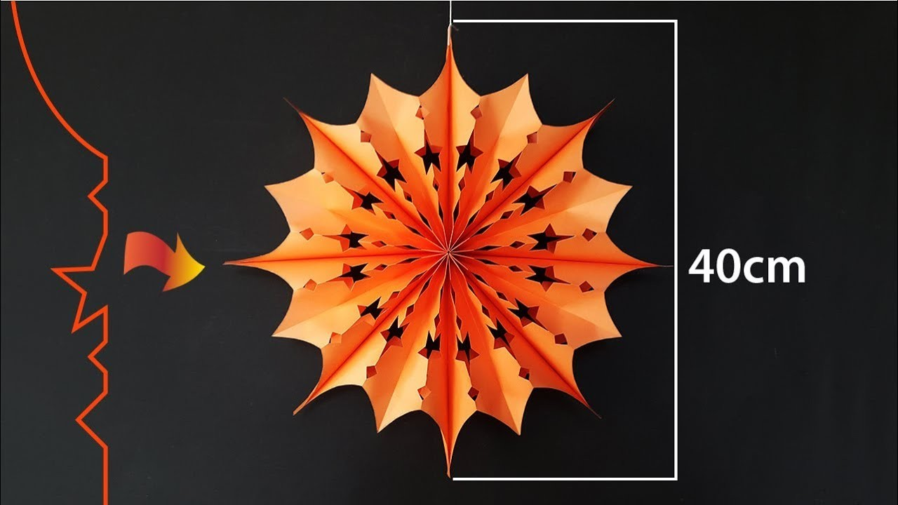 Paper Stars for Christmas Decoration | Easy Paper Snowflakes | DIY Christmas Decor Ideas