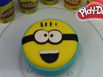 Plastilina| Como Hacer un Pastel Minions de Plastilina| Play doh Minions Cake| SALILA SHOW