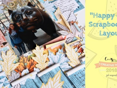 "Scrapbooking layout #011. Tutorial. ""Happy Day"""