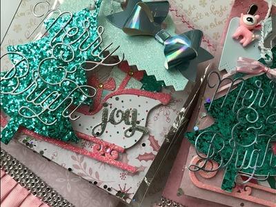 Scrapdaworld shaped Christmas Tag Swap 2018