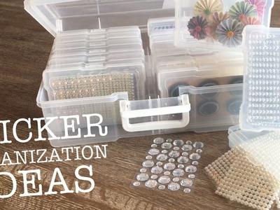 Sticker Organization Ideas | Sticker Organization for gems, jewels and embellishments PART 2