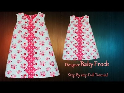 Super cute Baby Frock\Dress Step By Step Full Tutorial