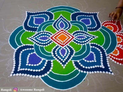 Unique and Awesome Rangoli Design for Diwali