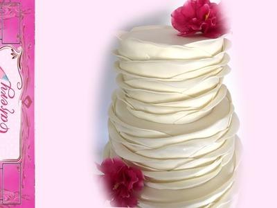 Wave Ruffle Wedding Cake Tutorial