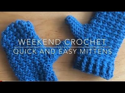 Weekend Crochet: Beginner Mittens, Moss Stitch Variation