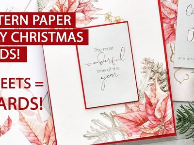 3 Sheets of Paper = 8 Holiday Cards. Fast Holiday Cardmaking with Minimum Supplies