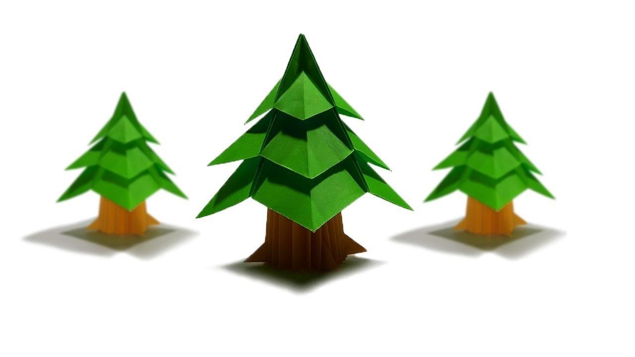 3d Paper Christmas Tree.3d Paper Christmas Tree How To Fold Origami Xmas Tree Diy