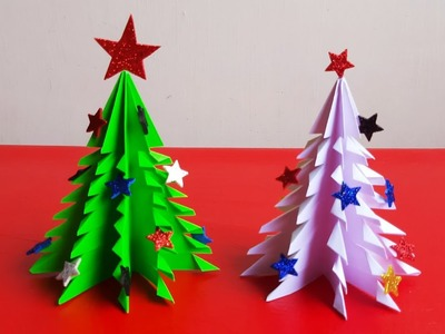 3D Paper Christmas Tree | Christmas Crafts | Christmas Decoration Ideas | How to make Christmas Tree