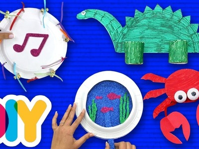 4 Easy PAPER PLATE CRAFTS you can do with your kid on a rainy day | Fast-n-Easy | DIY Arts & Crafts