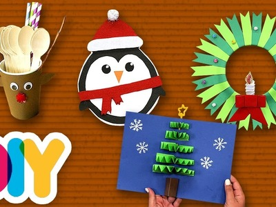 4 FESTIVE Kids Paper Crafts for CHRISTMAS ????Fast-n-Easy | DIY Arts & Crafts