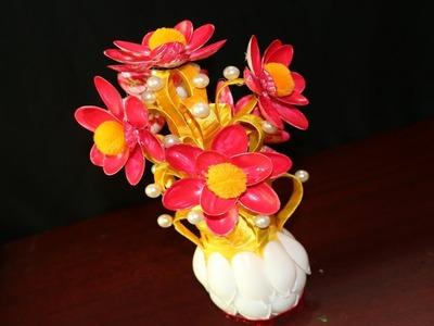 AMAZING DESIGN SPOON GULDASTA || WASTE PLASTIC BOTTLE GULDASTA | NEW DESIGN GULDASTA - DIY Flowers