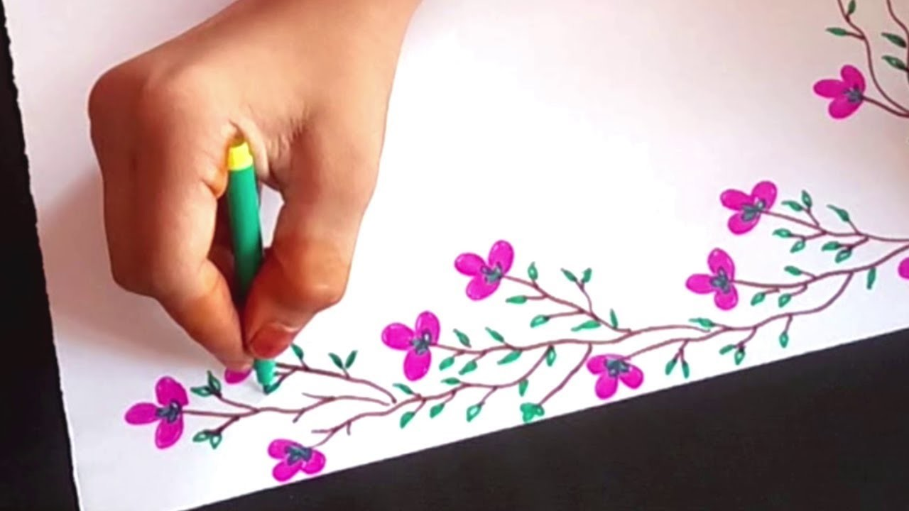 Beautiful Border Design For School Kids Paper Art Designs Project