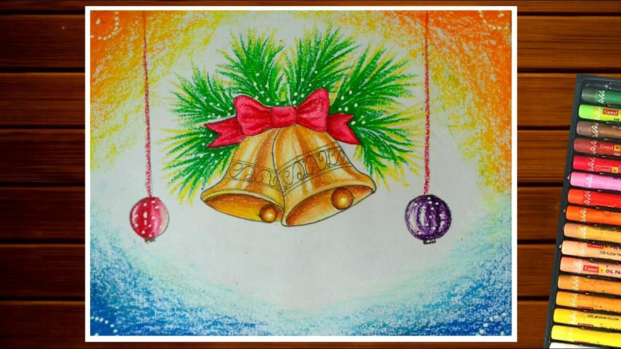 Christmas Day Drawing.Christmas Bells Drawing How To Draw Christmas Day Special