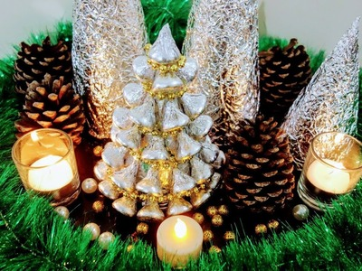 Christmas decoration ideas |Aluminum foil Paper Christmas Tree | Christmas cone tree| DIY christmas