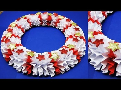 Christmas Decoration Ideas. Wall Decoration Ideas | Paper Flower Wall Hanging