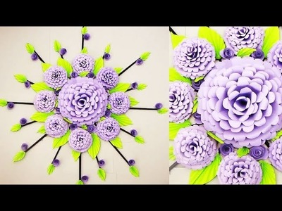 Christmas Decoration Ideas. Wall Decoration Ideas | Paper Flower Wall Hanging т34