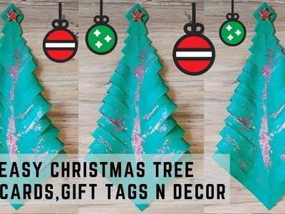 Christmas Tree made by Paper | Paper Crafts for Christmas easy