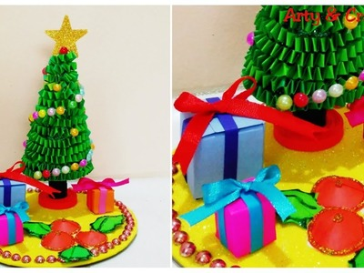 Christmas Tree Making.Christmas Tree from Paper.Christmas Ornaments.Christmas Decoration for Kids