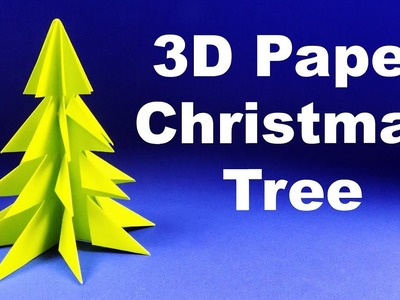 Christmas tree out of paper. How to make an easy origami christmas tree.