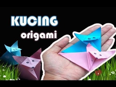 Cute and Easy Origami Cat - Origami Kucing - Paper Cat