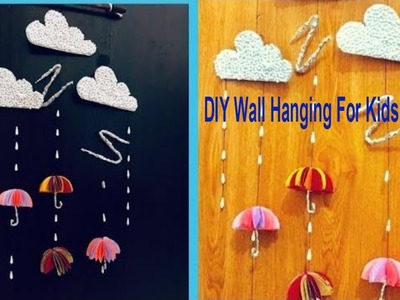 Cute Paper Umbrella Wall Hanging. Wall Decor Ideas For Kids Room