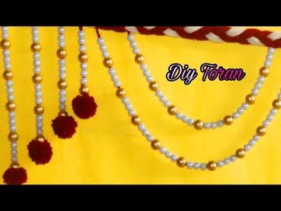 Designer Toran #2 with wool. diy bandarwal