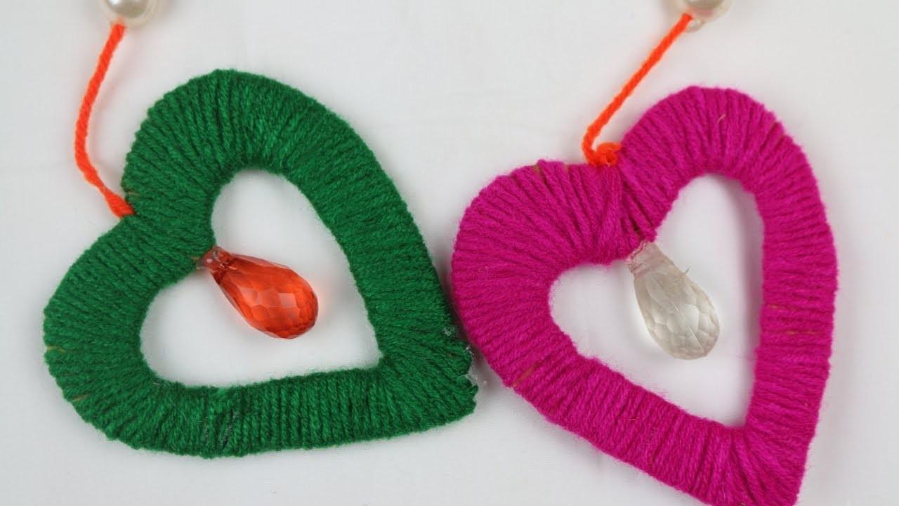 DIY arts and crafts || How to Make Door Hanging Toran For Room Decor - Amazing Woolen Craft Idea