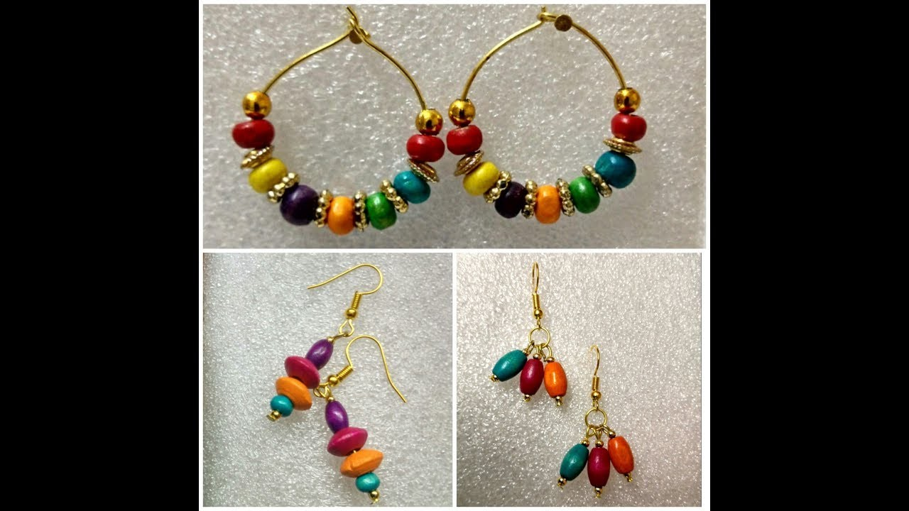 Diy Beaded Earrings Daily Wear How To Make Handmade Bead Making At Home