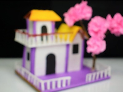 DIY Beautiful paper house    How to make a small paper house