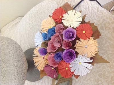 DIY box of paper roses,flowers