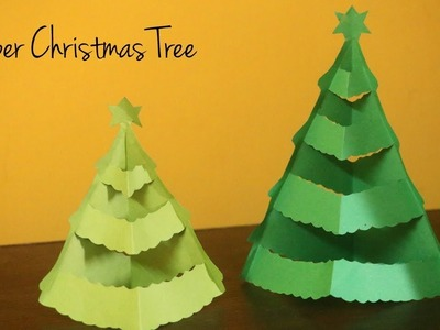 DIY Christmas Tree | Christmas Decorations | No Glue Easy Paper Crafts