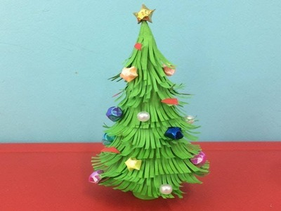 Diy Christmas tree with paper | 3d paper Christmas tree | easy Christmas tree ideas