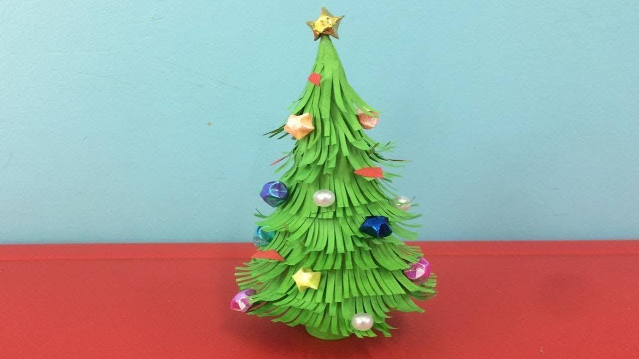 Diy Christmas tree with paper   3d paper Christmas tree   easy Christmas tree ideas