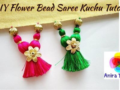 DIY Latest Flower Bead Double Joined Saree Kuchu Tutorial - Unique Saree Kuchu Tassel Tutorial