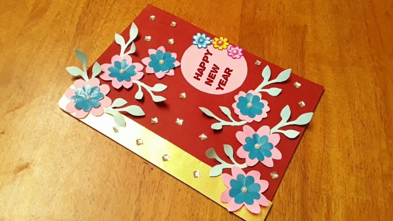 DIY New year greeting card making ideas , How to |new year ...