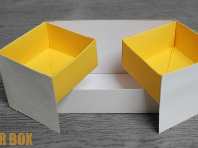 DIY Paper Box Organizer - DIY Activities with Paper