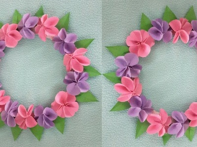 DIY Paper Flower wall hanging photo frame || Beautiful paper flower easy method